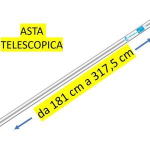 Asta di prolunga Pneumatica in ALLUMINIO CAMPAGNOLA – TELESCOPICA da 181cm a 317,5CM senza impugnatura
