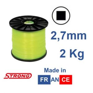 Filo per decespugliatore STRONG quadro diametro 2,7mm – 240mt