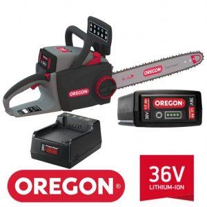 Motosega a batteria OREGON CS300 36V – KIT attrezzo + batteria da 4.0Ah e caricatore Standard