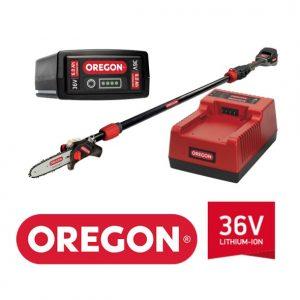 Potatore telescopico a batteria OREGON PS250 36V-  attrezzo + batteria da 4.0Ah e caricatore Standard