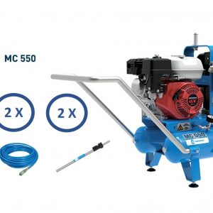 KIT Motocompressore CAMPAGNOLA MC550 motore HONDA da 5,5HP completo di abbacchiatori, aste e tubi