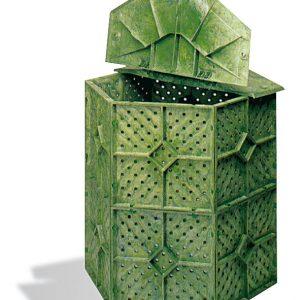 Compostiera a base esagonale da Giardino per rifiuti organici – 731lt