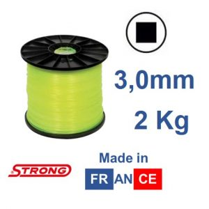 Filo per decespugliatore STRONG quadro diametro 3,0mm – 190mt