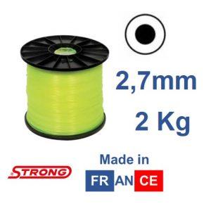 Filo per decespugliatore STRONG tondo diametro 2,7mm – BOBINA 2KG