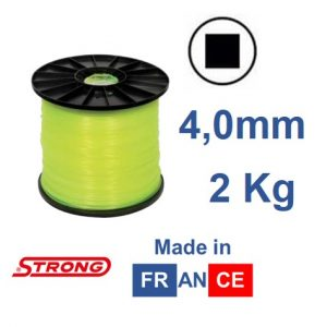 Filo per decespugliatore STRONG quadro diametro 4,0mm – 110mt