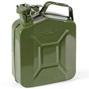 Tanica in acciaio per carburante Omologata TUV  – 5 Litri