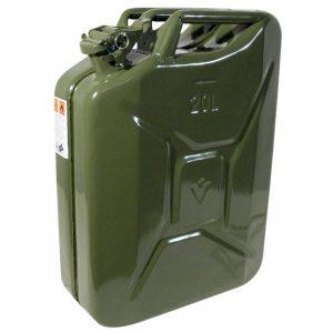 Tanica in acciaio per carburante Omologata TUV – 20 Litri