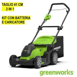 Rasaerba a Batteria GREENWORKS 40V con Batteria da 4Ah e caricabatteria