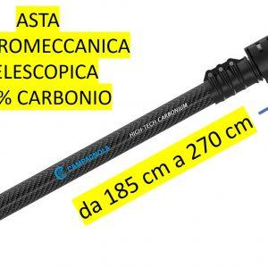 Asta di prolunga Elettromeccanica in CARBONIO  CAMPAGNOLA – TELESCOPICA da 185CM a 270 CM