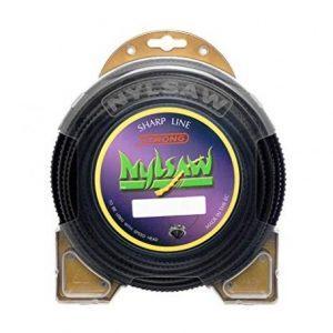 Filo per decespugliatore NYLSAW NERO a sezione quadra seghettata 4,0mm