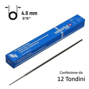 TONDINO VALLORBE 4,8mm (3/16″) PROFESSIONALI MADE IN SVIZZERA 12 PZ